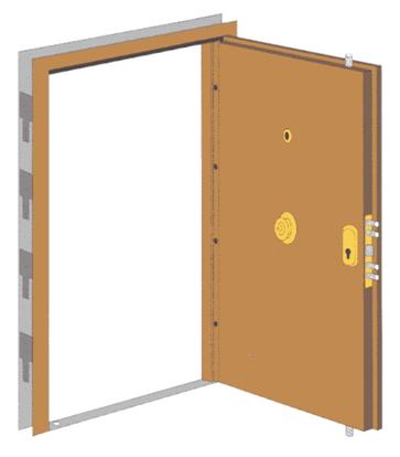 Porte blind e pour appartement caci security - Portes palieres appartements ...