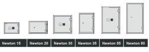 La gamme complète de coffres forts Newton HAFFNER